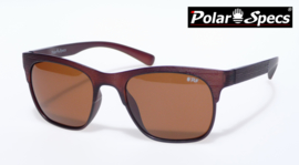 Polar Specs® Heren Zonnebril Hout PS9034 – Transparant Bruin – Polariserend Bruin – Medium/Large