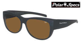 Overzetbril Polar Specs® PS5097/Mat Black/Brown/Medium