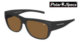 Overzetbril Polar Specs® PS5096/Mat Black/Brown/Large