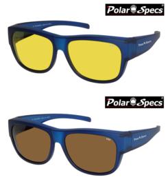 Polar Specs® Overzetbril PS5096 – Mat Navy Blue Satin – Polarized – Large – Unisex