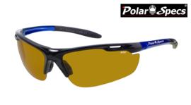 Polar Specs® High Definition Contrast Velocity Sport PS9041 – Metallic Blue Frame – Polarized HD Daytime – Medium – Unisex