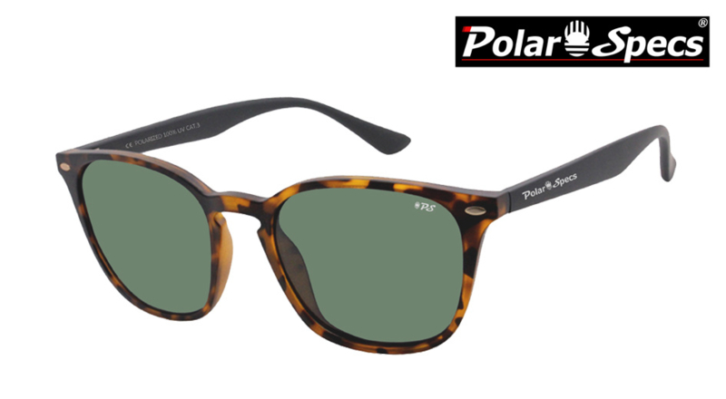 Polar Specs® Polariserende Zonnebril Calabria PS9059 – Havana Brown – Polarized Green – Medium – Unisex