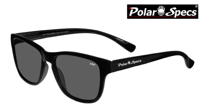 Polar Specs® Polariserende Zonnebril Wayfarer Classic PS9011 – Shiny Black – Polarized Black – Small – Unisex