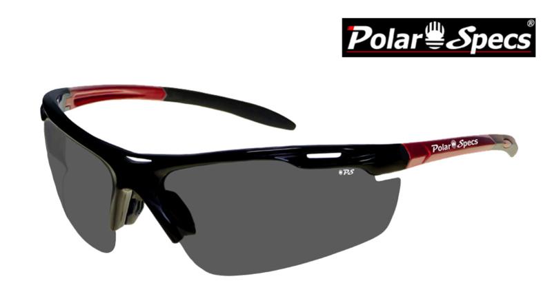 Polar Specs® Polariserende Zonnebril Velocity Sport PS9041 – Metallic Red – Polarized Black – Medium – Unisex