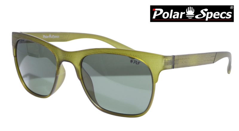 Polar Specs® Heren Zonnebril Hout PS9034 – Transparant Groen – Polariserend Groen – Medium/Large