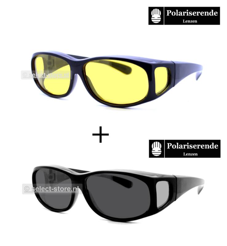 Overzetbril Tiener68 Zwart Montuur