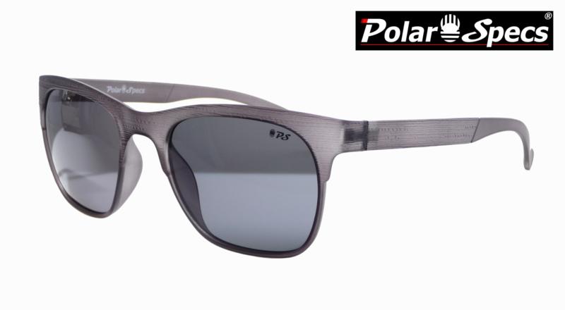 Polar Specs® Heren Zonnebril Hout PS9034 – Transparant Grijs – Polariserend Zwart – Medium/Large