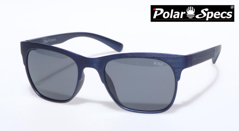 Polar Specs® Heren Zonnebril Hout PS9034 – Marine Blauw – Polariserend Zwart – Medium/Large