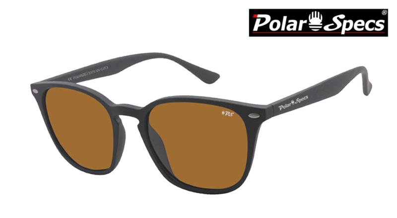 Polar Specs® Polariserende Zonnebril Calabria PS9059 – Mat Black – Polarized Brown – Medium – Unisex