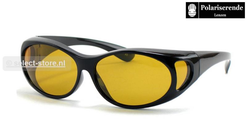 Overzetbril Wave76 HD Polar. Contrastbril Zw/Glim Montuur