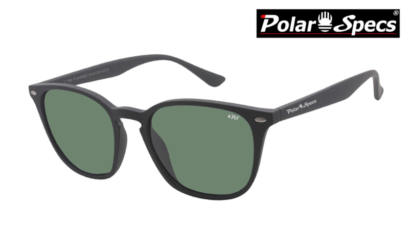 Polar Specs® Polariserende Zonnebril Calabria PS9059 – Mat Black – Polarized Green – Medium – Unisex