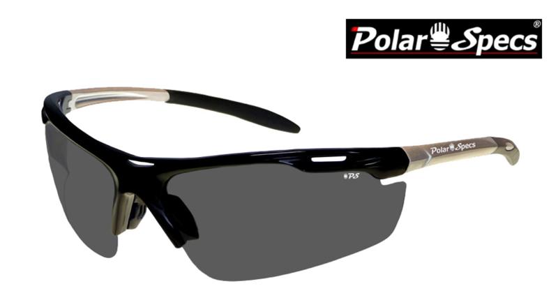 Polar Specs® Polariserende Zonnebril Velocity Sport PS9041 – Silver – Polarized Black – Medium – Unisex