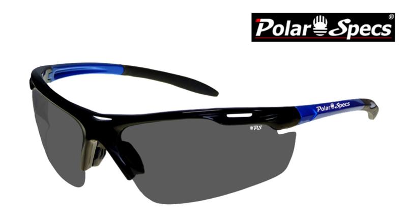 Polar Specs® Polariserende Zonnebril Velocity Sport PS9041 – Metallic Blue – Polarized Black – Medium – Unisex