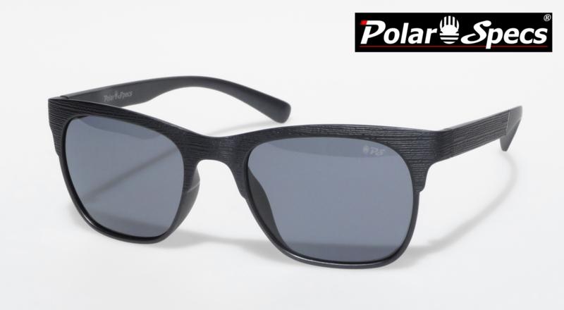 Polar Specs® Heren Zonnebril Hout PS9034 – Mat Zwart – Polariserend Zwart – Medium/Large