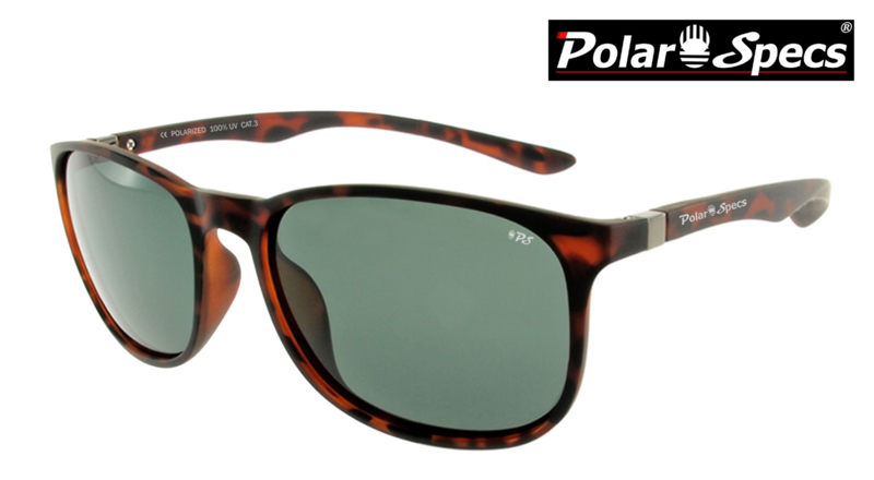 Polar Specs® Polariserende Zonnebril Continental PS9091 – Mat Tortoise Brown – Polarized Green – Small/Medium