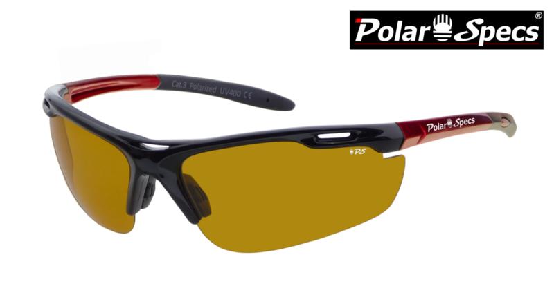 Polar Specs® High Definition Contrast Velocity Sport PS9041 – Metallic Red Frame – Polarized HD Daytime – Medium – Unisex