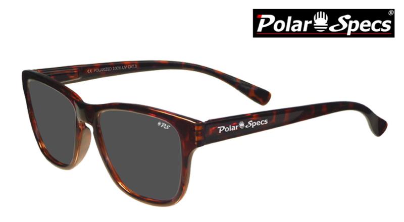 Polar Specs® Polariserende Zonnebril Wayfarer Classic PS9011 – Tortoise Bruin – Polarized Black – Small – Unisex