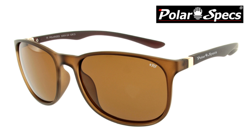 Polar Specs® Polariserende Zonnebril Continental PS9091 – Mat Brown Transparant – Polarized Brown – Small/Medium – Woman