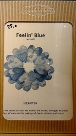 Blauwe hartjeskrans