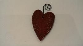 Rood houten hartje