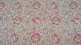 Fries roosje wit rood