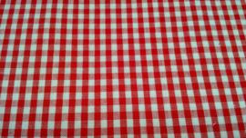 Tilda ruitje 0,5 cm rood roomwit