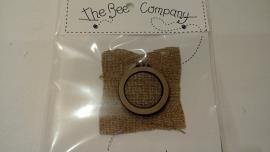 The Bee Company borduurring met linnen stof 4 cm