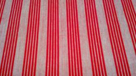 Streep rood wit