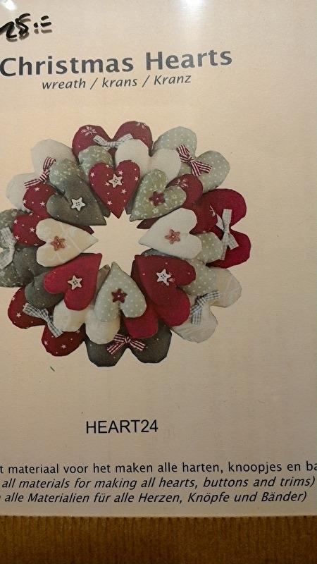 Hartjeskrans kerst