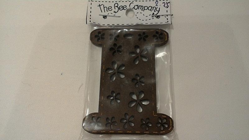 The Bee Company platte houten spoel 5,5 cm hoog