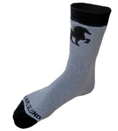 Wollen sok met paard afdruk