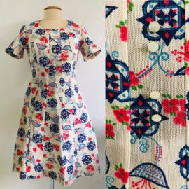 Vintage 70 ties printed dress (36)