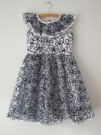 Vintage 70 ties  Pret a porter / prinsessen jurk  (128)