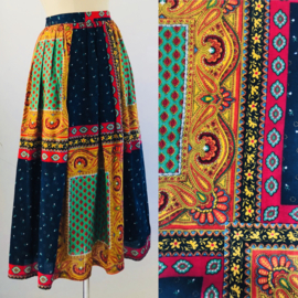 Vintage 70 ties bohemian paisley rok