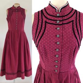 Vintage 50 ties Dirndl  jurk (40/42)