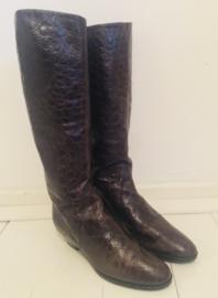 Vintage krokodillen print laarzen (37,5)