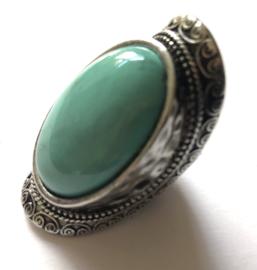 Vintage 70  ties boho ring met