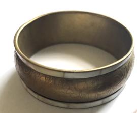 Vintage armband India  met parelmoer