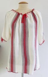 Vintage 70 ties boho Gebreide red/ white top