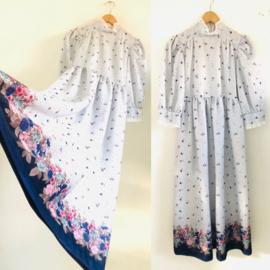 Vintage 70 ties Boho jurkje (152)