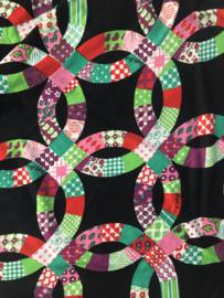 Vintage 70 ties rok met cirkels (36)