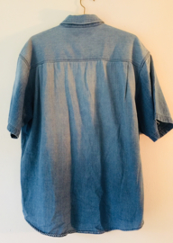 Vintage heren spijkerblouse (large)