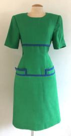 Vintage green 80 ties Dress (44)