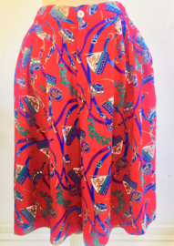 Vintage 80 ties rode broekrok (34)