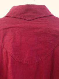Vintage  70 ties Westen blouse met drukknoop XL