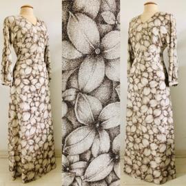 Vintage 60 ties coctail glitter bloemen jurk (38)