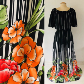 Vintage 70 ties boho maxi dress (38)
