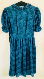 Vintage 50 ties jurkje met chinese print (34/36)