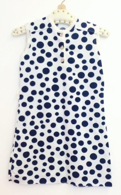Vintage 60 ties  polkadot jurk (128)