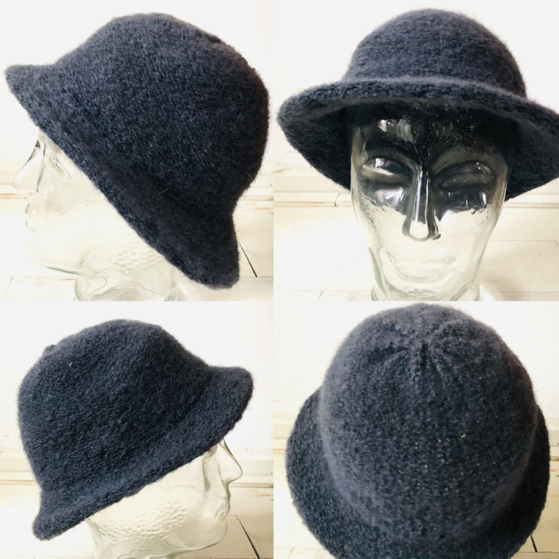 Vintage  50 ties Wollen hoedje